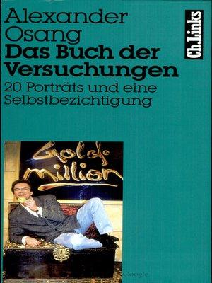 cover image of Das Buch der Versuchungen