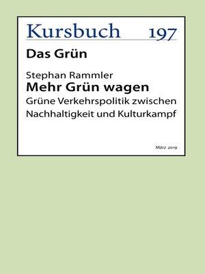 cover image of Mehr Grün wagen