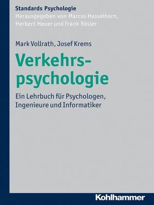 cover image of Verkehrspsychologie