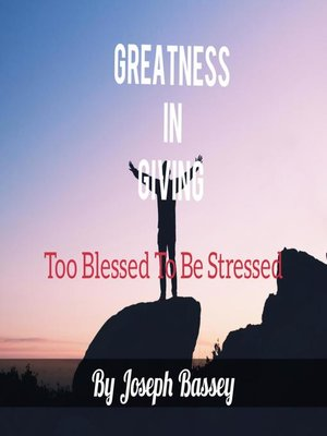 cover image of Greatness In Giving
