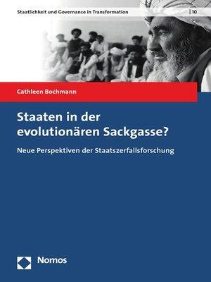 cover image of Staaten in der evolutionären Sackgasse?