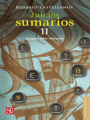 cover image of Juicios sumarios