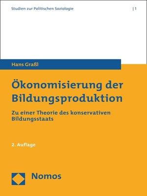 cover image of Ökonomisierung der Bildungsproduktion