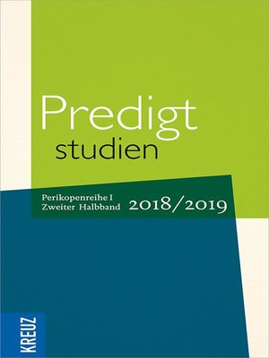 cover image of Predigtstudien 2018/2019