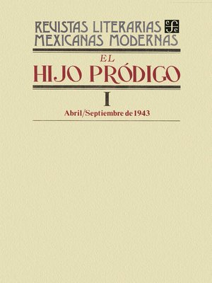 cover image of El hijo pródigo I, abril-septiembre de 1943