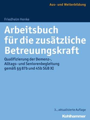cover image of Arbeitsbuch für die zusätzliche Betreuungskraft
