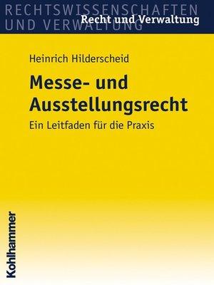 cover image of Messe- und Ausstellungsrecht