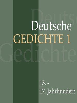 cover image of Deutsche Gedichte 1