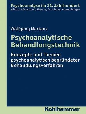 cover image of Psychoanalytische Behandlungstechnik