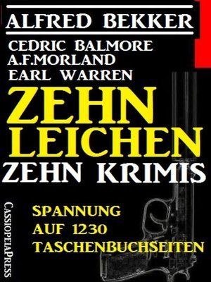 cover image of Zehn Leichen