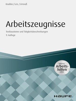 cover image of Arbeitszeugnisse--inkl. Arbeitshilfen online