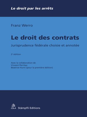 cover image of Le droit des contrats