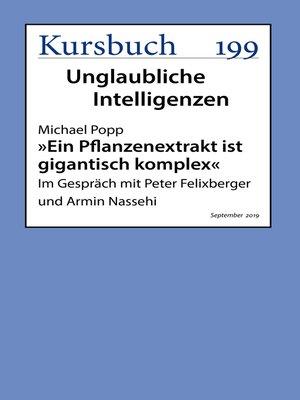 """cover image of """"Ein Pflanzenextrakt ist gigantisch komplex"""""""
