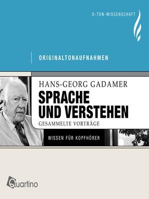 cover image of Sprache und Verstehen