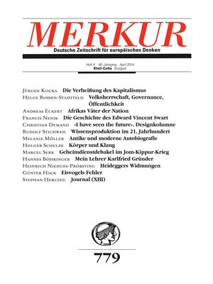cover image of MERKUR Deutsche Zeitschrift für europäisches Denken