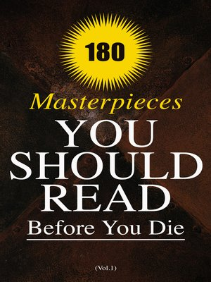 cover image of 180 Masterpieces You Should Read Before You Die (Volume1)