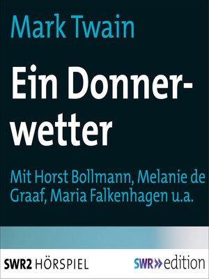 cover image of Ein Donnerwetter