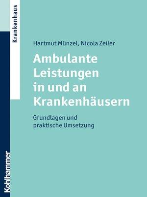cover image of Ambulante Leistungen in und an Krankenhäusern