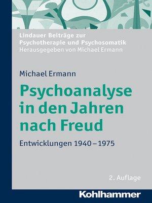 cover image of Psychoanalyse in den Jahren nach Freud