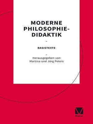 cover image of Moderne Philosophiedidaktik