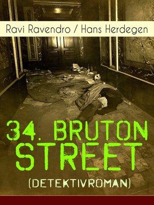 cover image of 34. Bruton Street  (Detektivroman)