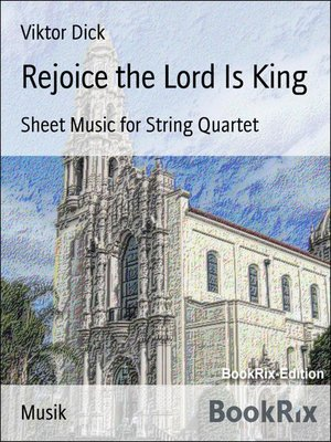 cover image of Rejoice the Lord Is King