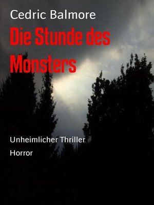cover image of Die Stunde des Monsters