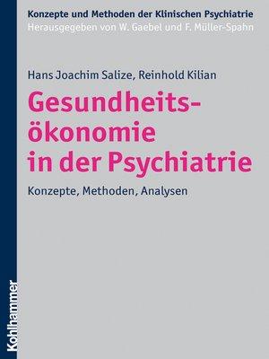 cover image of Gesundheitsökonomie in der Psychiatrie