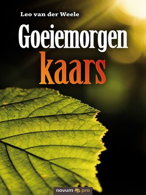 cover image of Goeiemorgen kaars
