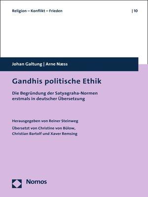 cover image of Gandhis politische Ethik