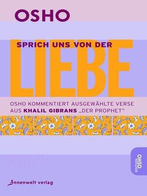 cover image of Sprich uns von der Liebe
