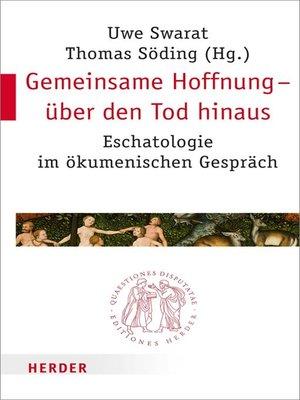 cover image of Gemeinsame Hoffnung--über den Tod hinaus