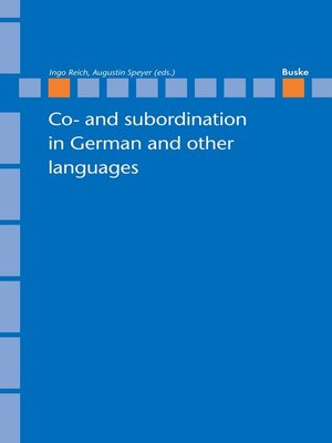 cover image of Co- and subordination in German and other languages