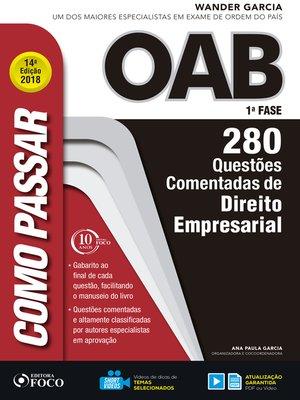 cover image of direito empresarial: 280 questões comentadas