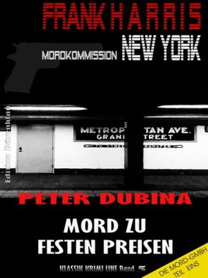 cover image of Mord zu festen Preisen (Mordkommission New York, Frank Harris, Band 5)