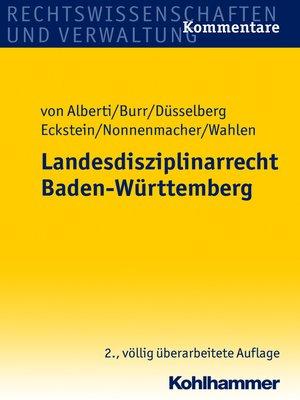 cover image of Landesdisziplinarrecht Baden-Württemberg