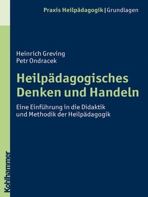 cover image of Heilpädagogisches Denken und Handeln