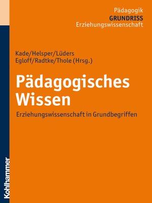 cover image of Pädagogisches Wissen