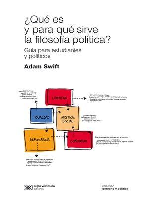 cover image of ¿Qué es y para qué sirve la filosofía política?
