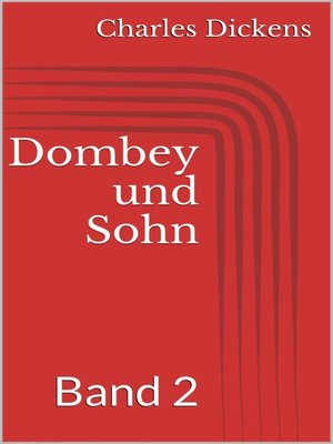 cover image of Dombey und Sohn--Band 2