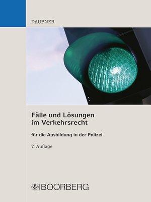cover image of Fälle und Lösungen im Verkehrsrecht