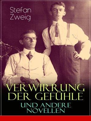 cover image of Verwirrung der Gefühle und andere Novellen