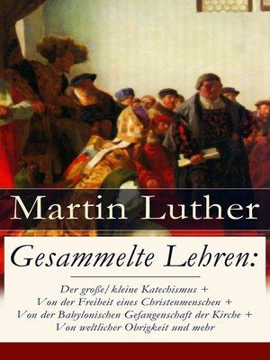 cover image of Gesammelte Lehren