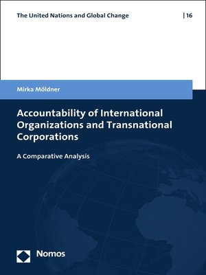 cover image of Accountability of International Organizations and Transnational Corporations
