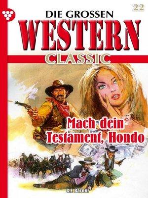 cover image of Die großen Western Classic 22 – Western