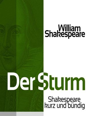 cover image of Der Sturm