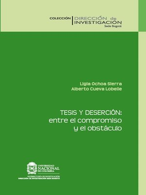 cover image of Tesis y deserción
