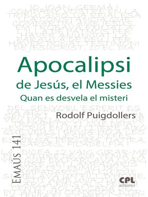 cover image of Apocalipsi de Jesús, el Messies