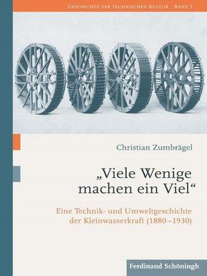"""cover image of """"Viele Wenige machen ein Viel"""""""