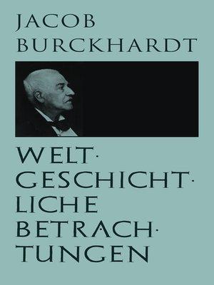 cover image of Weltgeschichtliche Betrachtungen